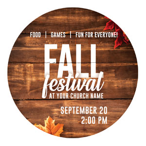 Rustic Fall Festival Circle InviteCards