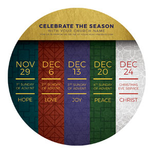 Celebrate The Season Advent Circle InviteCards
