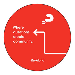 Alpha Arrow Create Community Red Circle InviteCards
