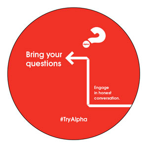 Alpha Arrow Questions Red Circle InviteCards