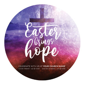 Easter Brings Hope Cross Circle InviteCards