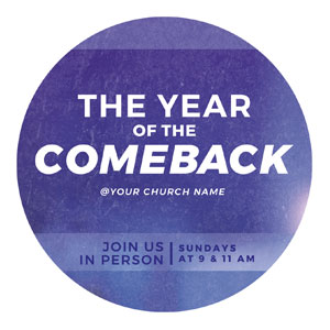 Comeback Blue Circle InviteCards