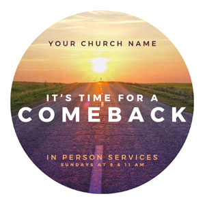 Comeback Sunrise Circle InviteCards