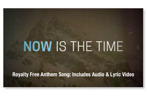 Now Is The Time Anthem Song SpecialtyItems