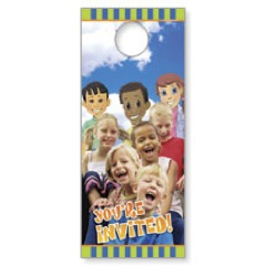 Children's Invited Door Hanger