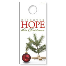 Hope Christmas Tree Door Hangers