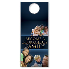 Courageous Family Blue Door Hanger