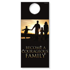 Courageous Family Door Hanger