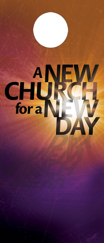New Church Door Hanger Church Invitations Outreach