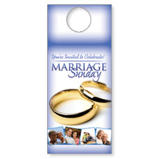Wow! Sunday Marriage Sunday Door Hanger