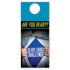 30-Day Superhero Door Hanger