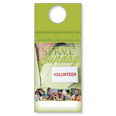 Wow! Sunday Serve Sunday Door Hanger