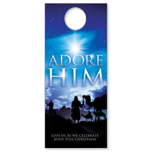 Adore Him DoorHangers