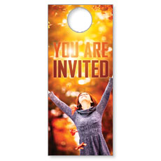 You're Invited Fall Door Hanger