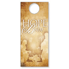 Hope is Born Door Hanger