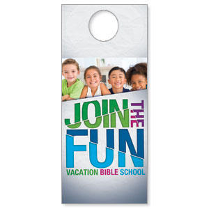 VBS Green Blue Red Door Hangers
