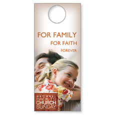 Family Faith Hug Door Hanger