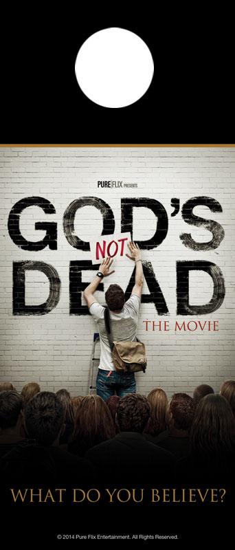 God's Not Dead Door Hanger