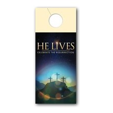 He Lives Crosses Door Hanger