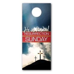 Risen Resurrection Door Hangers