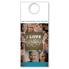 I Love Sundays Door Hanger