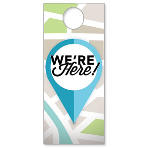 We Are Here DoorHangers