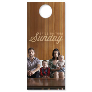 Spice Up Sunday Door Hangers