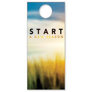 New Season Sunrise Door Hangers