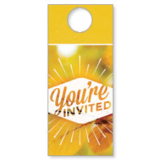 Invited Burst Door Hanger
