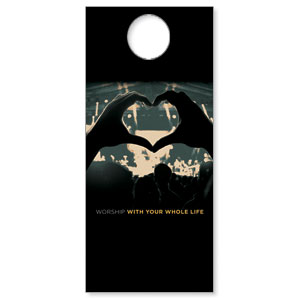 Worshiper Heart Door Hangers