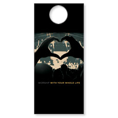 Worshiper Heart Door Hanger