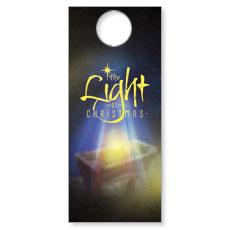 The Light of Christmas Door Hanger