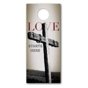 Love Starts Here DoorHangers