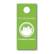 CityReach Green Door Hanger