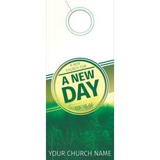 Green New Day Church Door Hanger