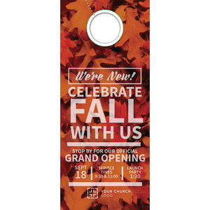Leaf Event Door Hangers