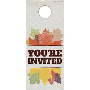 Stamped Leaves Door Hangers