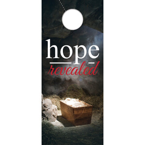 Hope Revealed Manger Door Hangers
