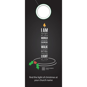 Light of the World Candle Door Hangers