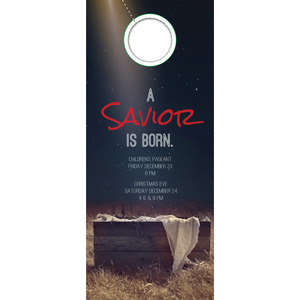 Savior Born Door Hangers