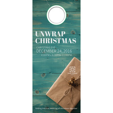 Unwrap Christmas Door Hanger