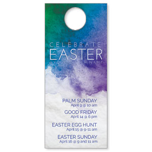 Celebrate Watercolor Easter DoorHangers