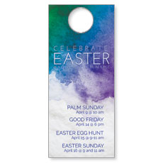 Celebrate Watercolor Easter Door Hanger