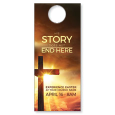Cross Story Door Hanger