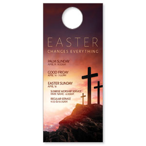 Easter Crosses Hilltop Door Hangers