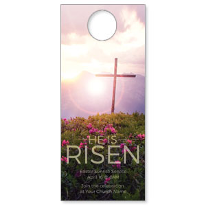 He Is Risen Mountain Door Hangers