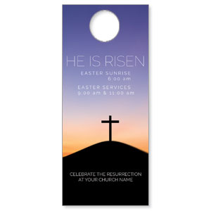 He Is Risen Sunrise Door Hangers