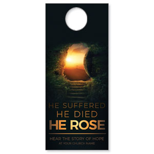 Suffered Died Rose Door Hangers