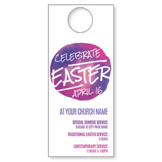 Watercolor Circle Easter Door Hanger