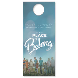 Back to Church Sunday: A Place to Belong Door Hangers